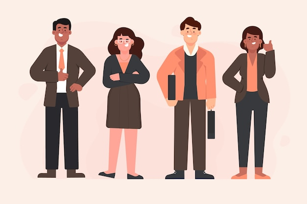 Ilustracja ludzi biznesu
