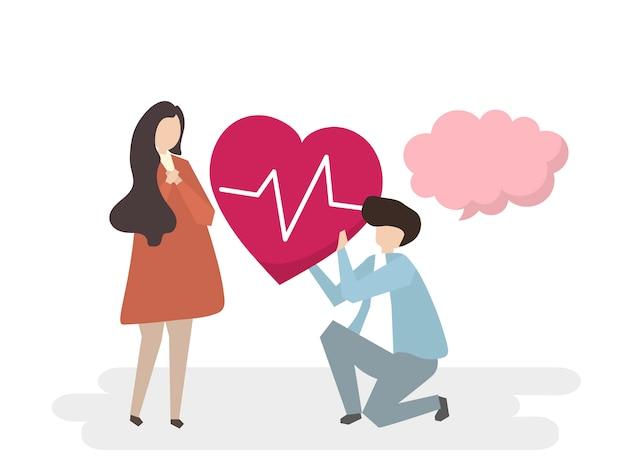 Ilustracja ludzi z usługą opieki medycznej
