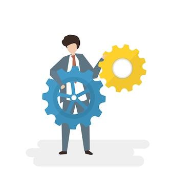 Ilustracja ludzie avatar biznesu pracy zespołowej pojęcia