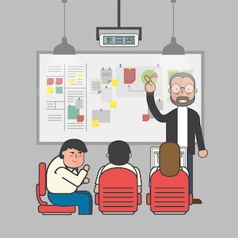 Ilustracja ludzie biznesu avatar