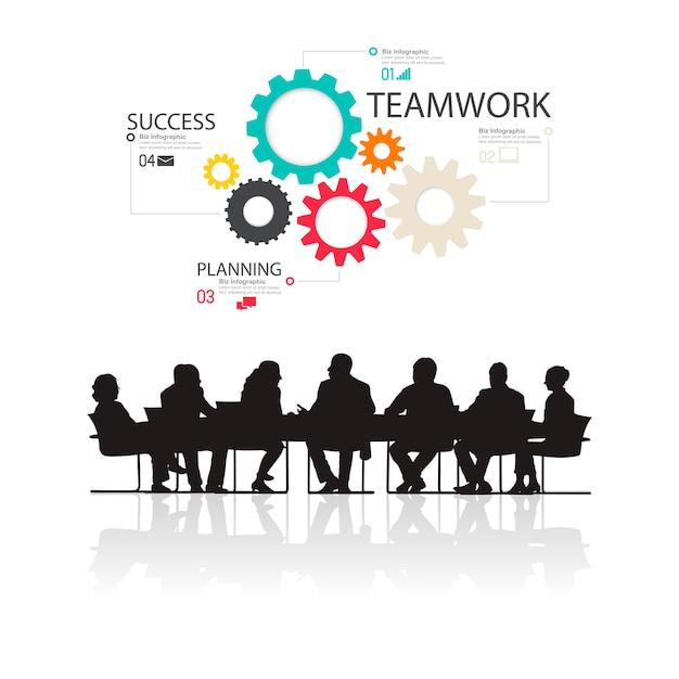 Ilustracja ludzie biznesu w spotkaniu