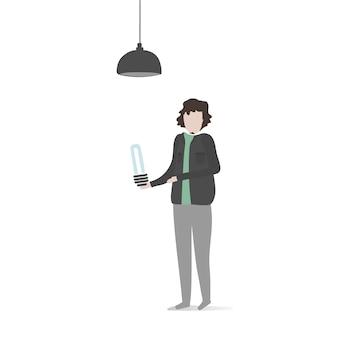 Ilustracja ludzki avatar z otoczeniem