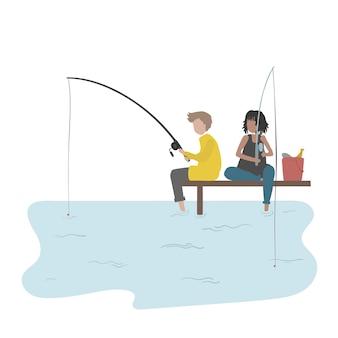 Ilustracja ludzkich hobby i działalności