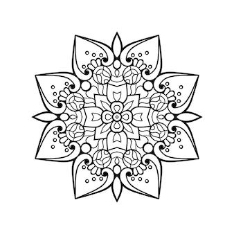 Ilustracja luksusowych ozdobnych mandali