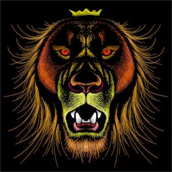 Ilustracja lwa