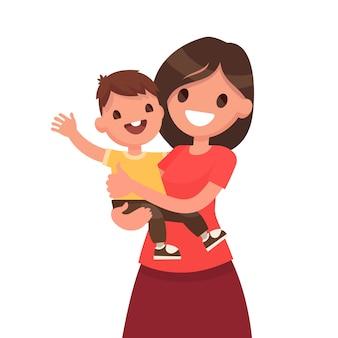 Ilustracja macierzyństwa w wyciągnąć rękę