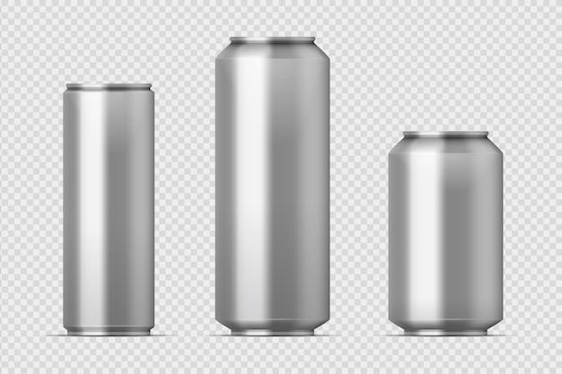 Ilustracja makieta puszki piwa