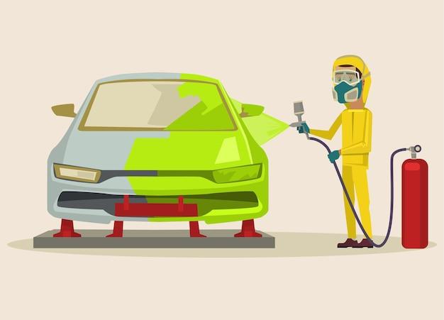 Ilustracja malowania samochodu