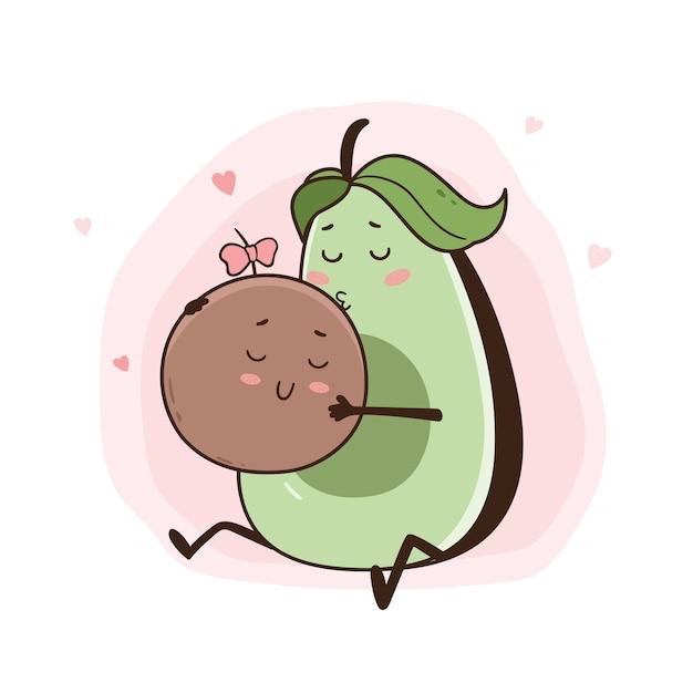 Ilustracja mama awokado