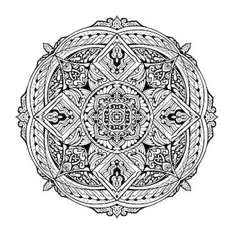 Ilustracja mandali do kolorowania