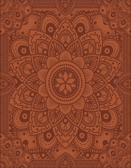 Ilustracja mandali ornament tło