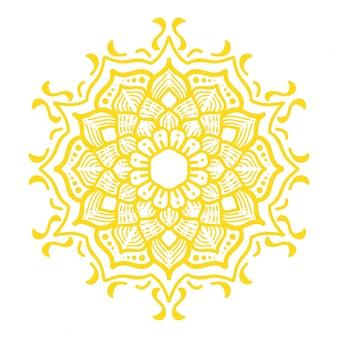 Ilustracja mandali sztuki projektowania