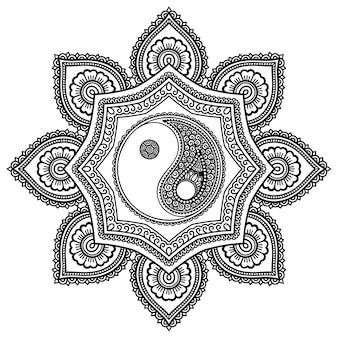 Ilustracja mandali wzór kołowy