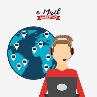 Ilustracja marketingu e-mailowego
