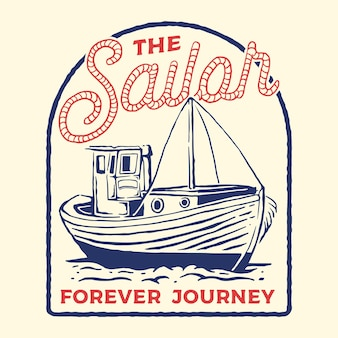 Ilustracja marynarz