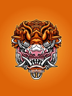 Ilustracja maska tygrysa