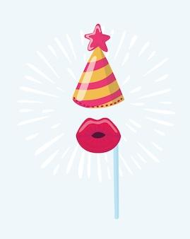 Ilustracja maska urodziny
