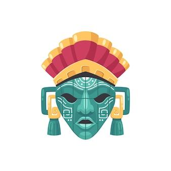 Ilustracja maski cywilizacji majów