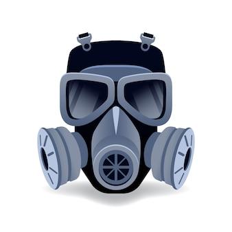 Ilustracja maski gazowej