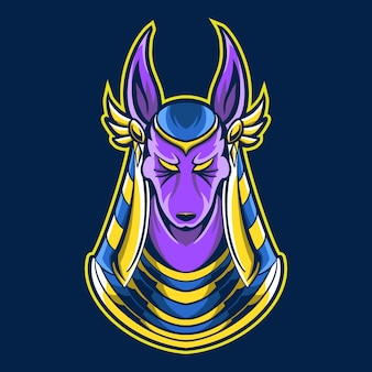 Ilustracja maskotka anubis