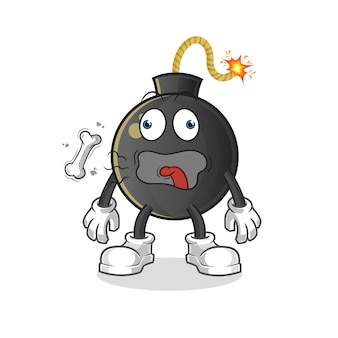 Ilustracja maskotka beknięcie bomby