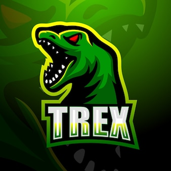 Ilustracja maskotka dinozaur trex