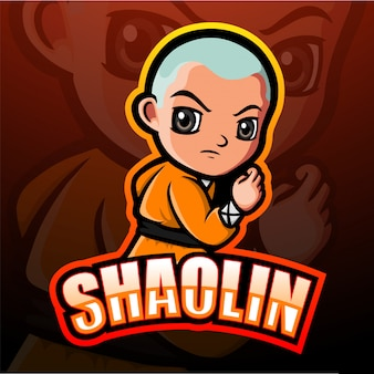 Ilustracja maskotka e-sport shaolin