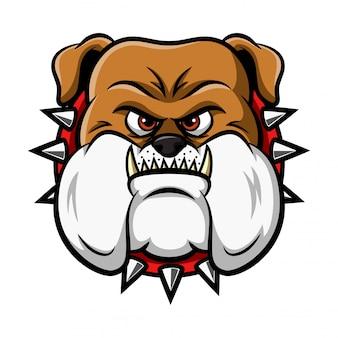 Ilustracja maskotka głowa buldoga
