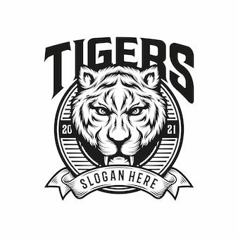 Ilustracja maskotka głowa tygrysa