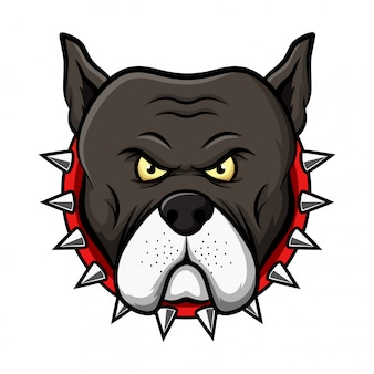 Ilustracja maskotka głowy pitbull