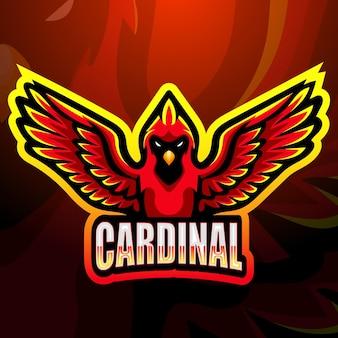 Ilustracja maskotka kardynała