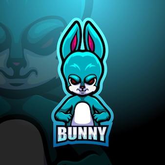 Ilustracja maskotka królik
