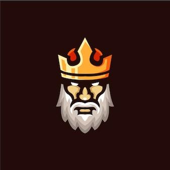 Ilustracja maskotka logo króla