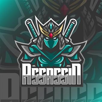 Ilustracja maskotka logo ostatniego zabójcy samuraja