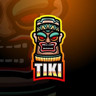 Ilustracja maskotka maska tiki