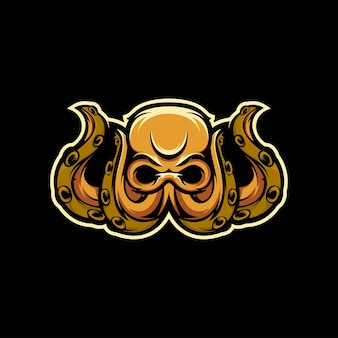 Ilustracja maskotka ośmiornicy