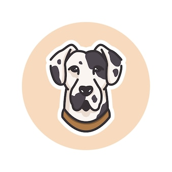 Ilustracja maskotka psa dalmatyńczyka, idealna na logo lub maskotkę
