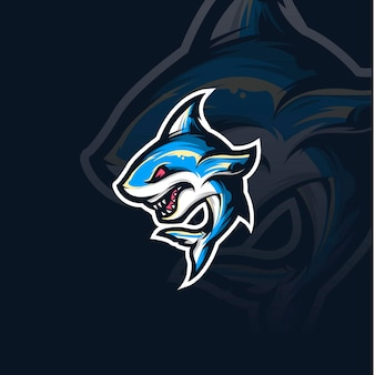Ilustracja maskotka rekina