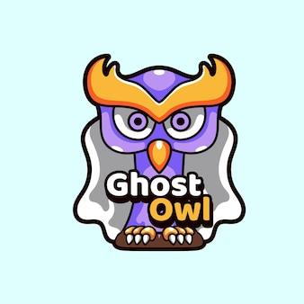Ilustracja maskotki ghost owl