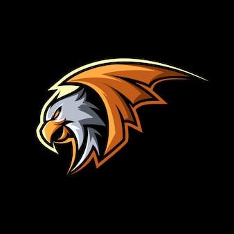 Ilustracja maskotki orzeł hawk bird