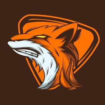 Ilustracja maskotki wild fox