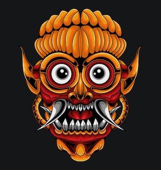 Ilustracja mecha maski barong