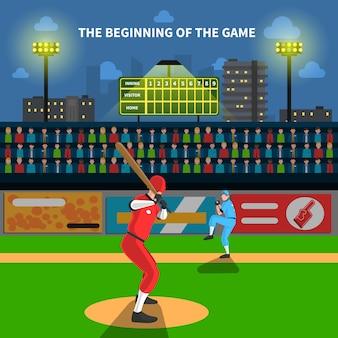 Ilustracja mecz baseballowy