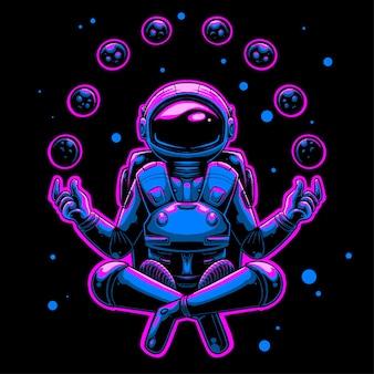 Ilustracja medytacji astronautów