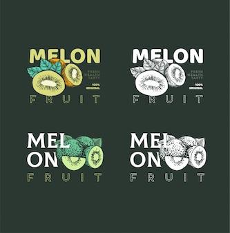 Ilustracja melon owoców