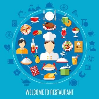 Ilustracja menu restauracji