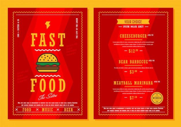 Ilustracja menu szablon vectror