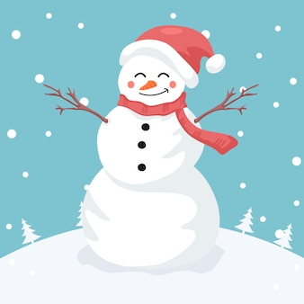 Ilustracja merry snowman