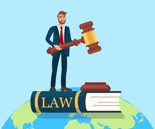 Ilustracja metafora praworządności