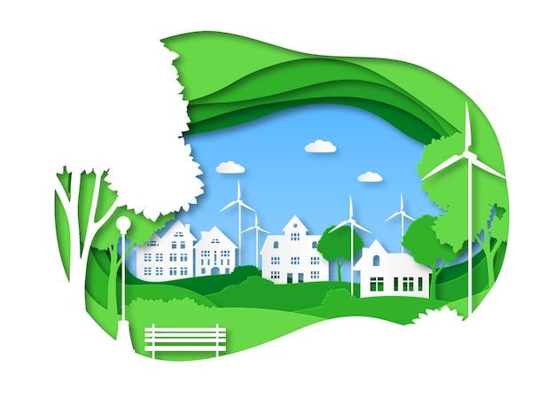 Ilustracja miasta eko